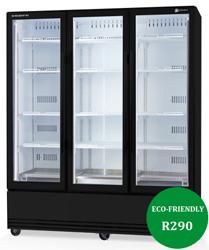 Skope SKB1500SS-A ActiveCore 3 Door Stainless Steel Display Refrigerator