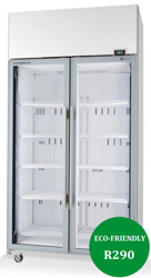 Skope TME1000N-A Active Core 2 Door White Display Fridge