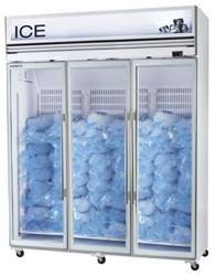 Skope VFX1500-Ice 3 Door White Display Freezer