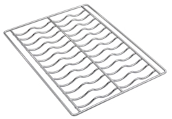 Smeg 3735 Undulated Chrome 435x320mm Grid (pack of 4)
