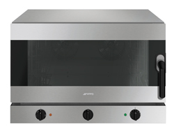 Smeg ALFA425H-2 4 Tray 3 Phase Humidified Convection Oven with Side Opening Door