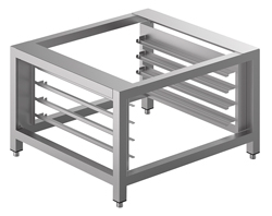 Smeg TVL425D Stainless Steel Oven Stand with Tray Supports 2 Oven Load
