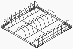 Smeg WB50D01 500x500mm Coated Wire Basket 18 Plate Self-Service Trays