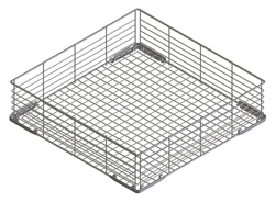 Smeg WB50G01 500x500mm Flat-Bottomed Coated Wire Basket