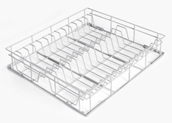 Smeg WB60D01 600x500mm Coated Wire Basket 24-Plate 260mm Dia