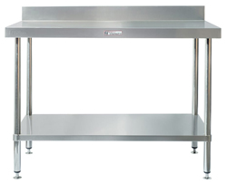 Simply Stainless SS02-1200 SS Bench - Splashback