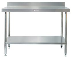 Simply Stainless SS02-1800 SS Bench - Splashback