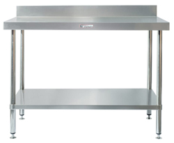 Simply Stainless SS02-2400 SS Bench - Splashback