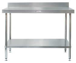 Simply Stainless SS02-7-0300 SS Bench - Splashback