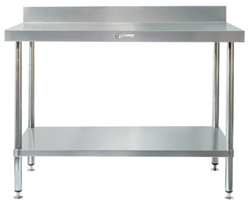 Simply Stainless SS02-7-1200 SS Bench - Splashback