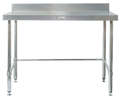 Simply Stainless SS02-7-1200LB SS Bench - Splashback