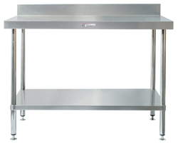 Simply Stainless SS02-7-1500 SS Bench - Splashback