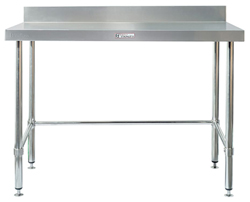 Simply Stainless SS02-7-1500LB SS Bench - Splashback