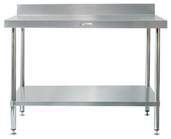 Simply Stainless SS02-7-1800 SS Bench - Splashback