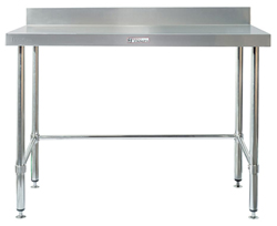 Simply Stainless SS02-7-1800LB SS Bench - Splashback