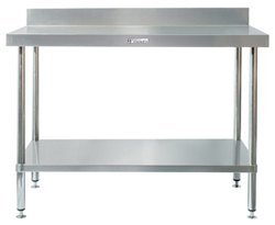 Simply Stainless SS02-7-2400 SS Bench - Splashback