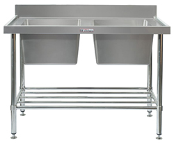 Simply Stainless SS06-1500 Double Sink Bench