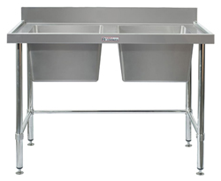 Simply Stainless SS06-1500LB Double Sink Bench