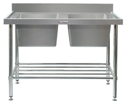 Simply Stainless SS06-2400 Double Sink Bench