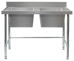 Simply Stainless SS06-2400LB Double Sink Bench