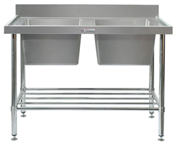 Simply Stainless SS06-7-1200 Double Sink Bench