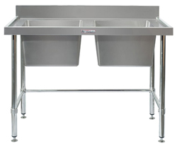 Simply Stainless SS06-7-1200LB Double Sink Bench