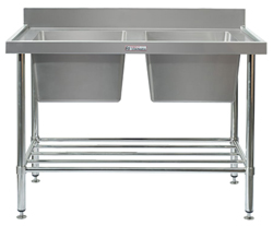 Simply Stainless SS06-7-1500 Double Sink Bench