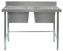 Simply Stainless SS06-7-1500LB Double Sink Bench