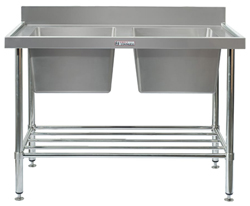 Simply Stainless SS06-7-1800 Double Sink Bench