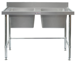 Simply Stainless SS06-7-1800LB Double Sink Bench