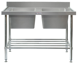 Simply Stainless SS06-7-2100 Double Sink Bench
