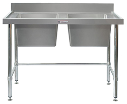 Simply Stainless SS06-7-2100LB Double Sink Bench