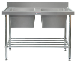 Simply Stainless SS06-7-2400 Double Sink Bench