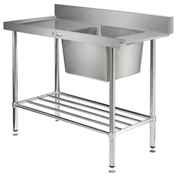 Simply Stainless SS08-7-1200 Dishwasher Inlet bench