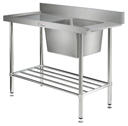 Simply Stainless SS08-7-1650 Dish Washer Inlet Bench