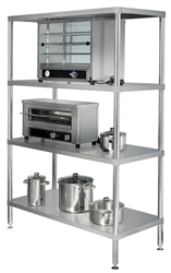Simply Stainless SS17-0900SS SS 4 Tier Shelving