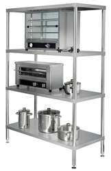 Simply Stainless SS17-1200SS SS 4 Tier Shelving