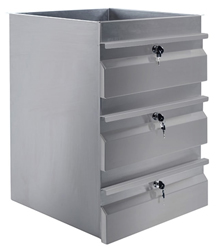 Simply Stainless SS19-0300 Triple SS Drawer