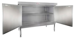 Simply Stainless SS32-DPK-MS-7-0900 Door Panel Kit with Solid Mid Shelf