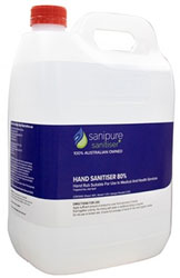 Sanipure Hand Sanitiser 80% Alcohol 5 Litre Refill Bottle