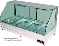 Woodson WHFC22G-65 4 x 1/2Gn Pan Curved Glass Hot Food Display