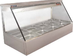 Woodson WHFS22G-65 4 x 1/2Gn Pan Straight Glass Hot Food Display