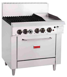 Thor TR-4F-G12F 4 Burner Natural Gas Oven and 305mm Grill