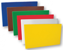 Trenton 48019 Colour Coded Cutting Board Set of 6 400x250x13mm