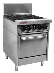 Trueheat RCR6-4 Gas 4 Open Top Burners Gas Oven