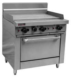 Trueheat RCR9-9G Gas 900mm Griddle Gas Oven
