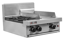 Trueheat RCT6-2-3G Gas 2 Open Top Burners 300 Griddle