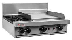 Trueheat RCT9-2-6G Gas 2 Open Top Burners 600 Griddle