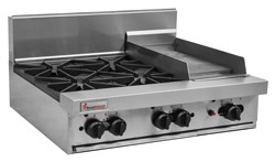 Trueheat RCT9-4-3G Gas 4 Open Top Burners 300 Griddle