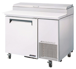 Turboair CTPR-44SD Pizza Prep Table 1 Door Air Over Pans